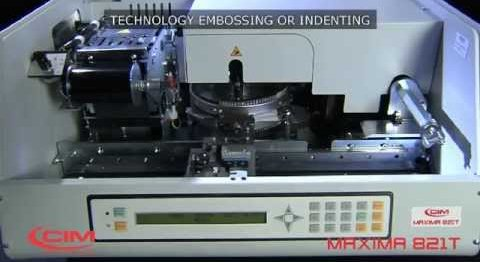 CIM MAXIMA 821 T: PROVEN RELIABILITY IN CARD EMBOSSING